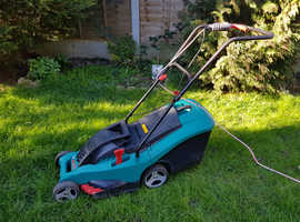 FOR SALE: Bosch Rotak 36 Rotary Hand-Propelled Electric Lawnmower - 2nd hand - v. good condition with new blade