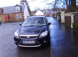 Ford Focus, 2008 (58) Black Hatchback, Manual Diesel, 99,698 miles open to offers