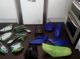 Crf 70 pitbike plastics seat and tank