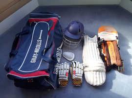 Gray-Nicolls Cricket Bag, Gloves, Helmet & Pads - Junior