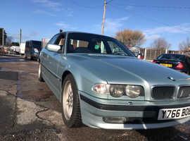 BMW 7 Series, 2001 (Y) Green Saloon, Automatic Petrol, 183,000 miles