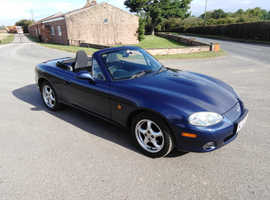 Mazda Mx5, 2002 (52) blue convertible, Manual Petrol, 51000 miles