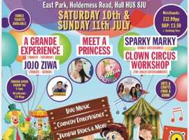 A fun-packed family extravaganza is coming to East Park Hull on Sat 10th & Sun 11th July!!
