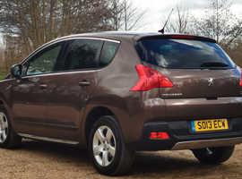 Peugeot 3008, 2013 (13) Brown Hatchback, Semi auto Diesel, 91,400 miles