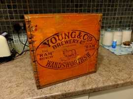 Keep your wine bottles tidy with a vintage flagon crate, great sturdy condition. £15