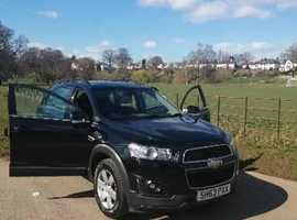 Chevrolet Captiva, 2013 (63) 7 Seater Black Estate, Manual Diesel, 115,000 miles
