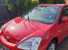 Honda Civic, 2003 (52) Red Hatchback, Manual Petrol, 89,986 miles