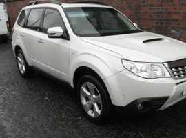 Subaru Forester, 2013 (13) White Estate, Manual Diesel, 150,000 miles