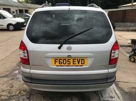 Vauxhall Zafira, 2005 (05) Silver MPV, Manual Petrol, 137,000 miles, MOT Nov 2019