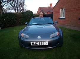 Mazda MX-5, 2007 (07) Grey Convertible, Manual Petrol, 77,000 miles