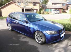 BMW 3 Series, 330D M Sport Estate Le Mans Blue, 2005 (55), VGC, Many extras