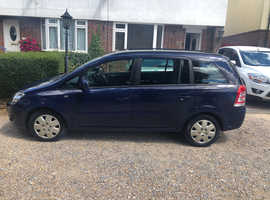 Vauxhall Zafira, 2012 (62) Blue MPV, Manual Petrol, 93,700 miles