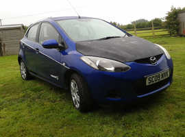 Mazda MAZDA 2, 2009 (09) Blue Hatchback, Manual Diesel, 91,000 miles