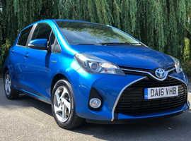 Toyota Yaris, 2016 (16) Blue Hatchback, Cvt , 27,200 miles