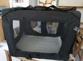 Soft, folding, MOOl pet crate/carrier