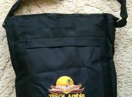 New Black Fabric Shoulder / Messenger / Book Bag