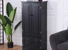 COSTWAY Antique Wooden Storage Cabinet Cupboard Shelf