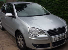 Volkswagen Polo, 2006 (06) Silver 5 Door Automatic Petrol, 72,489 miles - 1 owner - 1 Years MOT - VGC