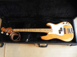 Vintage rare 1976-77 Fender Precision P- J Bass Guitar & hard case, new strings & new strap
