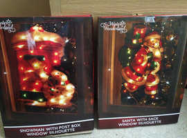 Christmas window silhouettes