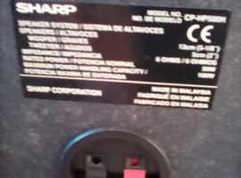 Sharp speaker's in good condition