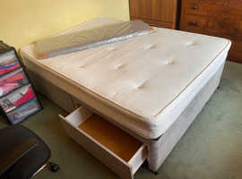 FREE - Divan Double Bed & Mattress - 4 Drawers