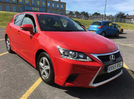 Lexus Ct, 2015 (65) red hatchback, Cvt Hybrid, 101000 miles