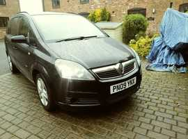 Vauxhall Zafira, 2009 (09) Black MPV, Manual Petrol, 129,500 miles