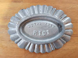 A rare dish, ashtray, coin dish, desk tidy made from the metal of the British Airship R101