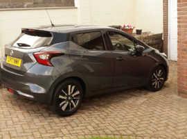 Nissan Micra, 2017 (17) Grey Hatchback, Manual Petrol, 3,800 miles