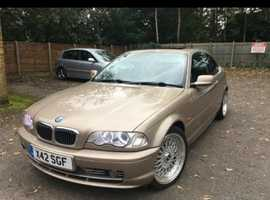 BMW 3 Series, 2000 (X) Gold Coupe, Automatic Petrol, 80,000 miles