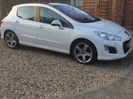 Peugeot 308, 2013 (62) White Hatchback, Manual Diesel, 82,000 miles