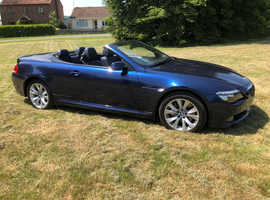 BMW 6 Series, 2009 (09) Blue Convertible, Manual Petrol, 77,830 miles