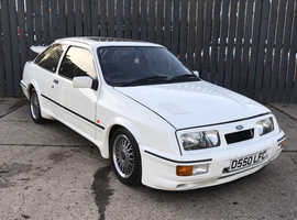 1986 FORD SIERRA RS COS-WORTH HIGHLY DESIRABLE SPORTING FORD FINISHED IN CHAMPIONSHIP WHITE WITH MINT GREY ORIGINAL INTERIOR.
