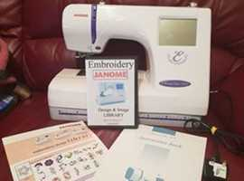 'JANOME 300-E-' EMBROIDERY MACHINE - & - INSTRUCTIONS - COVER - 4 CD DESIGNS PLUS ACCESSORIES FOR SALE!