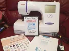 'JANOME 300-E-' EMBROIDERY MACHINE -'MINT CONDITION! 1,200.00 UK RRP!
