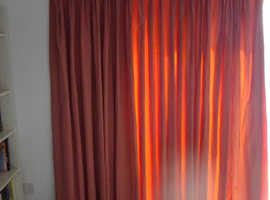 FAUX WATERED-SILK  FULL LENGTH CURTAINS