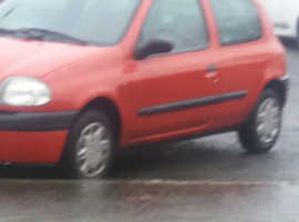 Renault Clio, 1998 (S) Red Hatchback, Manual Petrol, 58,000 miles