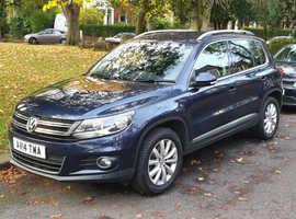 Volkswagen Tiguan, 2014 (14) Blue Estate, Semi auto Diesel, 64,000 miles