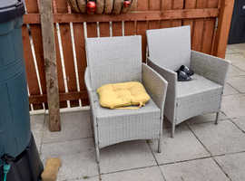 Free water butt and garden chairs