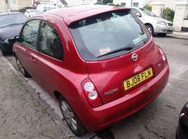 Nissan Micra, 2008 (08) Red Hatchback, Manual Diesel, 245 miles