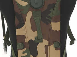 Army Military 3 Litre Aqua Bladder Camelbak Water Carrier Hydration Backpack DPM WOODLAND CAMO.