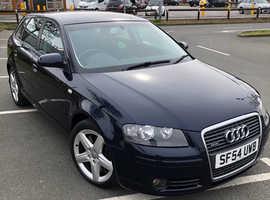 Audi A3, 2004 (54) Blue Hatchback, Automatic Petrol, 79,000 miles