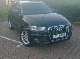 Audi Q3, 2014 (14) Black Estate, Manual Diesel, 46,000 miles