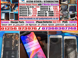 iPhone Screen Repairs, Batteries, Charger Ports, Speakers, Cameras. Open over Christmas Period