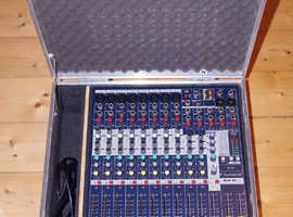 Soundcraft EFX8 mixing console, mixer, built in effects, mint, incl. custom-made flight case