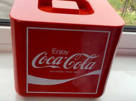 Rare, UNUSED, vintage red Coca Cola ice bucket, 1970/80's