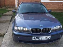 BMW 3 Series, 2003 (03) Blue Estate, Automatic Diesel, 148,000 miles