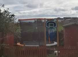 10 ft trampoline with enclosure hardly used