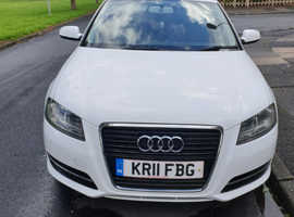 Audi A3, 2011 (11) White Hatchback, Manual Diesel, 89,600 miles